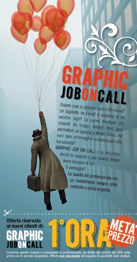 graphic job on call volantino